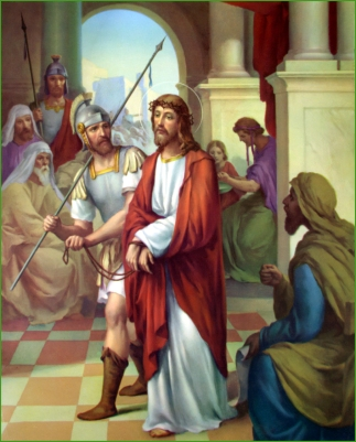 1950s Giuseppe Vicentini (born 1895) Estacion I Jesus condenado a muerte