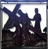 Stations of the Cross V - Simon of Cyrene helps Jesus