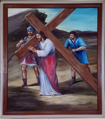 2003 Jessie C. Lores - Stations of the Cross V: The Carrying of the Cross