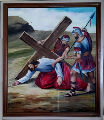 2003 Jessie C. Lores - Stations of the Cross VI: Jesus falls with the Cross