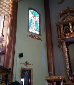 2007 San Bartolome Parish, Altar Stained Galss, Our Lady of Mercy