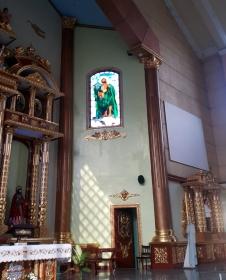 2007 San Bartolome Parish, Altar Stained Glass, Saint Bartholomew
