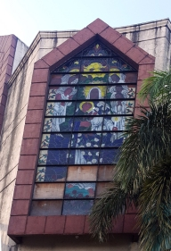 2007 San Bartolome Parish, Stained Glass, Our Lady of Mercy