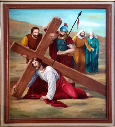 2003 Jessie C. Lores - Stations of the Cross VII: Simon of Cyrene