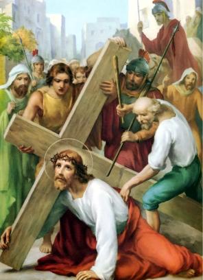1950s Giuseppe Vicentini (born 1895) Estacion III Jesus cae por primera vez