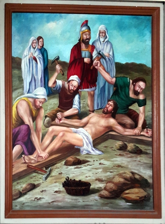 2003 Jessie C. Lores - Stations of the Cross IX: Jesus is Nailed to the Cross