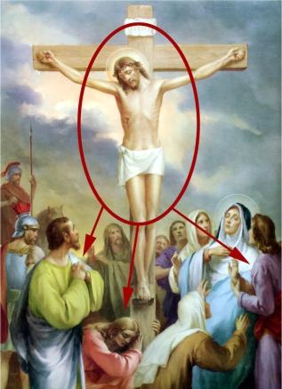 1950s Giuseppe Vicentini (born 1895) Estacion XII Jesus muere en la cruz