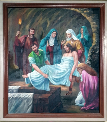 2003 Jessie C. Lores - Stations of the Cross XIII: Jesus is Laid in the Tomb