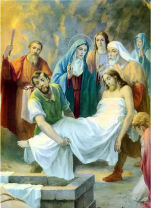 1950s Giuseppe Vicentini (born 1895) Estacion XIV Jesus es sepultado