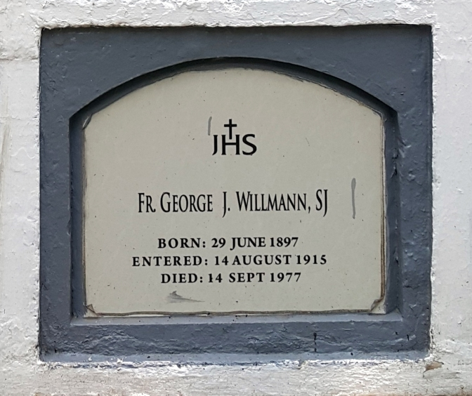 1977 Fr. George J. Willmann SJ (1897-1977)