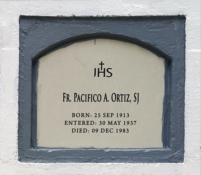 1983 Fr. Pacifico A. Ortiz SJ (1913-1983)