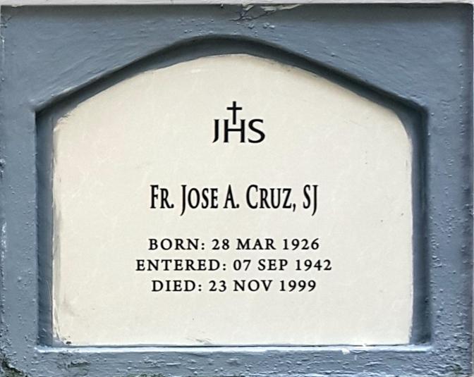 1999 Fr. Jose A. Cruz SJ (1926-1999)