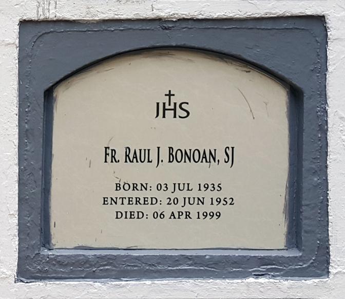 1999 Fr. Raul J. Bonoan SJ (1935-1999)