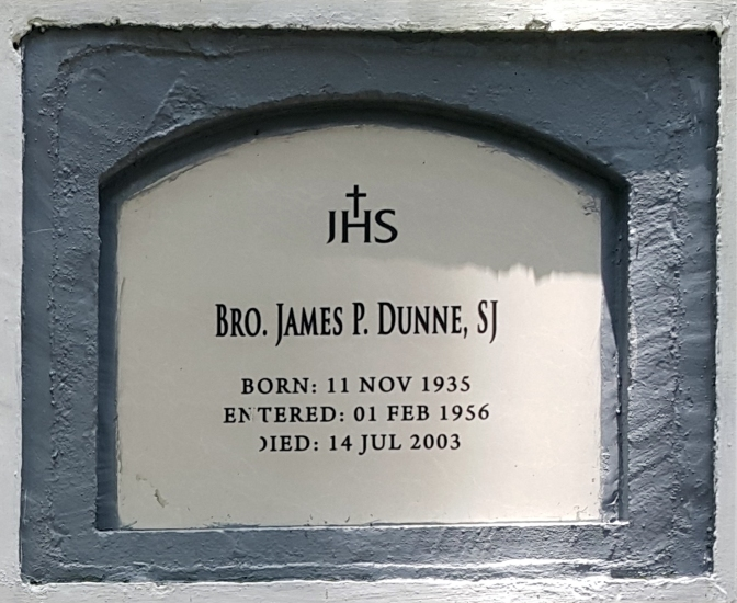 2003 Bro. James P. Dunne SJ (1935-2003)