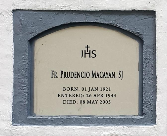 2005 Fr. Prudencio Macayan SJ (1921-2005)