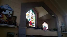 2007 San Bartolome Parish, Choir Loft, Stained Glass, The Martyrdom of Saint Bartholomew