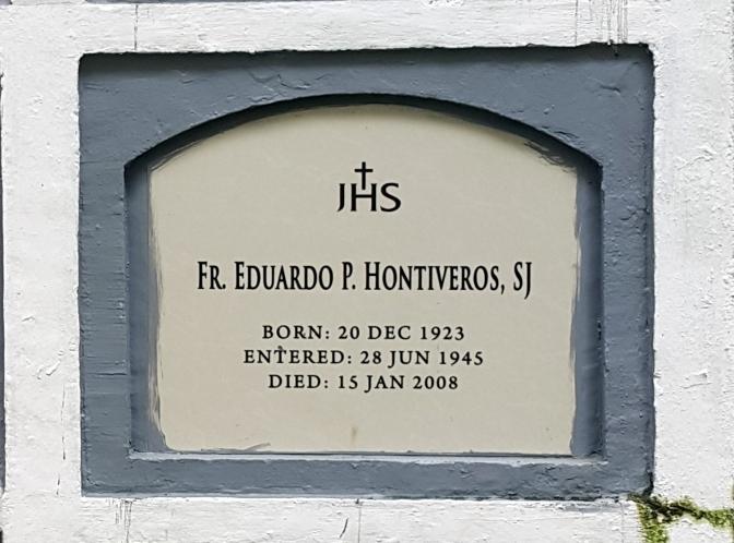 2008 Fr. Eduardo P. Hontiveros SJ (1923-2008)