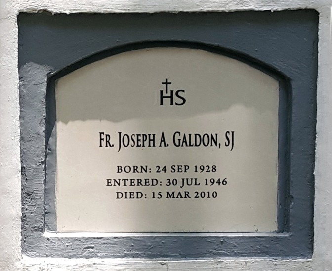 2010 Fr. Joseph A. Galdon SJ (1928-2010)