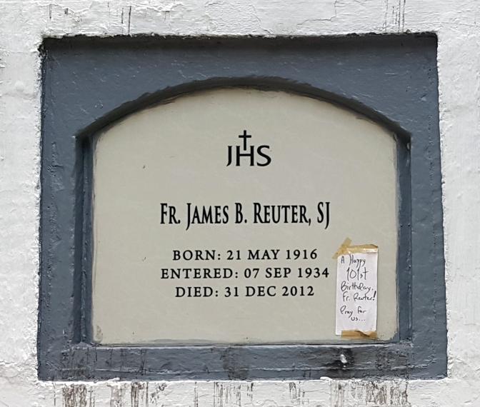 2012 Fr. James B. Reuter SJ (1916-2012)