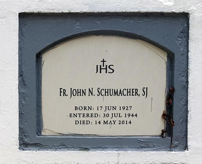 2014 Fr. John N. Schumacher SJ (1927-2014)