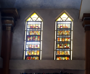Diocesan Shrine of Our Lady of Mercy, Stained Glass