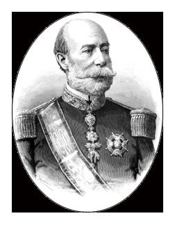 1870s El marqués de Novaliches, Governor-General Manuel Pavía y Lacy (1814-1896)