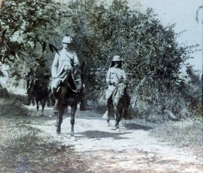 1899 Maj. Gen. Henry W. Lawton on Novaliches Road on his way to San Mateo