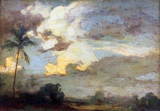1925 Novaliches Landscape by Fernando Cueto Amorsolo (1892–1972)