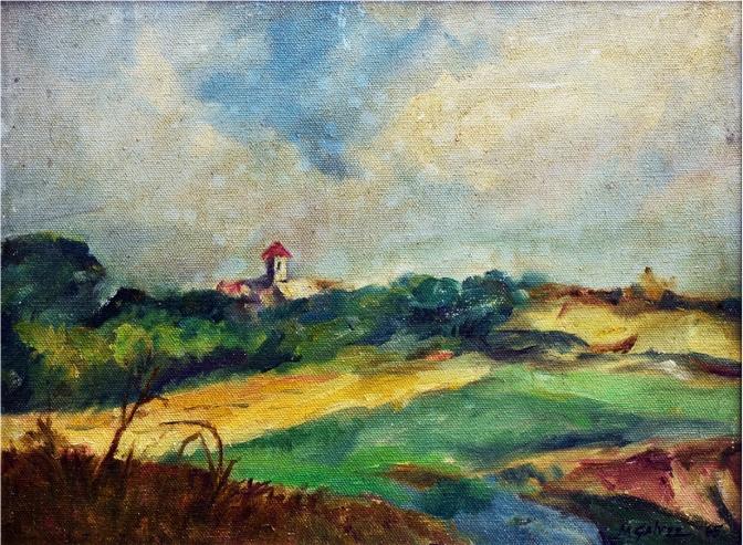 1965 Novaliches Landscape by Miguel Galvez