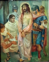 1986 Antonio Ko Jr - Via Crucis I: Christ is condemned to Death by Pontius Pilate