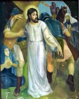 1986 Antonio Ko Jr - Via Crucis II: Christ receives the Cross