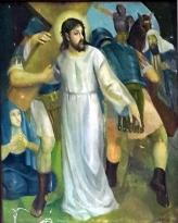 1986 Antonio Ko Jr - Via Crucis II: Christ receives the Cross