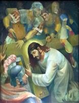 1986 Antonio Ko Jr - Via Crucis III: Christ falls for the First Time