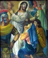 1986 Antonio Ko Jr - Via Crucis IV: Christ meets His Mother