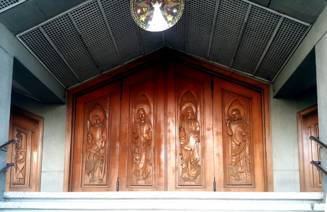 1992 Our Lady of the Annunciation, The Four Evangelists Door