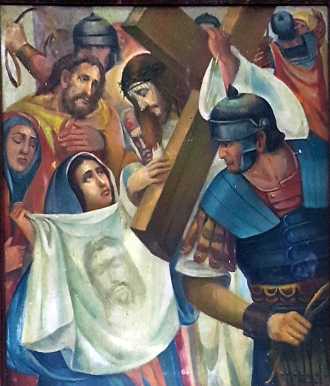 1986 Antonio Ko Jr - Via Crucis VI: Veronica wipes the face of Christ