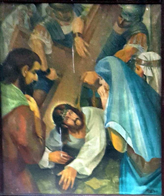 1986 Antonio Ko Jr - Via Crucis VII: Christ falls for the Second Time