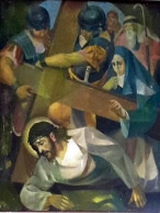 1986 Antonio Ko Jr - Via Crucis IX: Christ falls for the Third Time