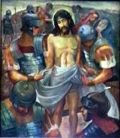 1986 Antonio Ko Jr - Via Crucis X: Christ is stripped of His Robes