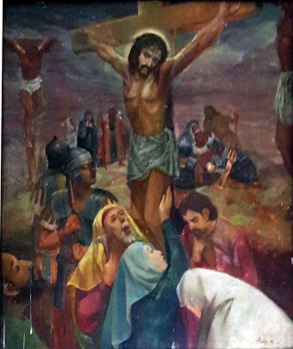 1986 Antonio Ko Jr - Via Crucis XII: Christ dies on the Cross