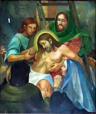 07 1986 Antonio Ko Jr - Via Crucis XIII: Christ is brought down from the Cross