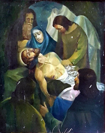 1986 Antonio Ko Jr - Via Crucis XIV: Christ is laid in the Tomb