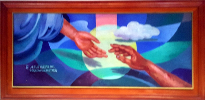 1997 Pancho Piano - Via Crucis IV: Jesus meets his sorrowful Mother
