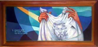 1997 Pancho Piano - Via Crucis VI: Veronica dries the sweat from the Face of Jesus 2