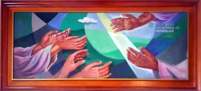 1997 Pancho Piano - Via Crucis VIII: Jesus meets the Women of Jerusalem