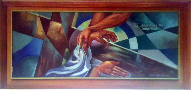 1997 Pancho Piano - Via Crucis IX: Jesus falls for the third time