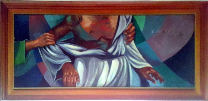1997 Pancho Piano - Via Crucis X: Jesus is stripped of His Robes