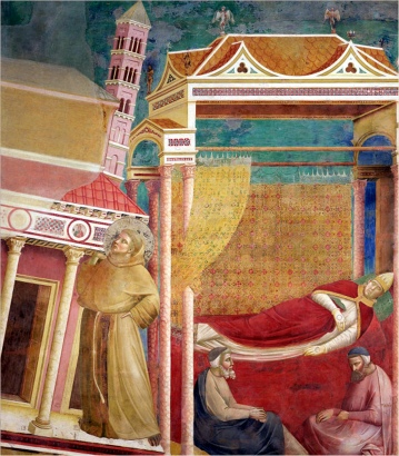 1290-1292 Giotto di Bondone (1270-1337) - Dream of Innocent III