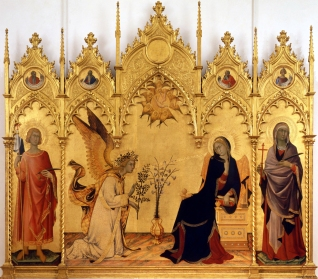 1333 Simone Martini (1285–1344) - The Annunciation with St. Margaret and St. Ansanus