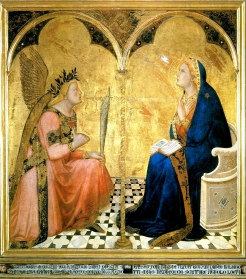 1344 Ambrogio Lorenzetti (1285–1348) - The Annunciation